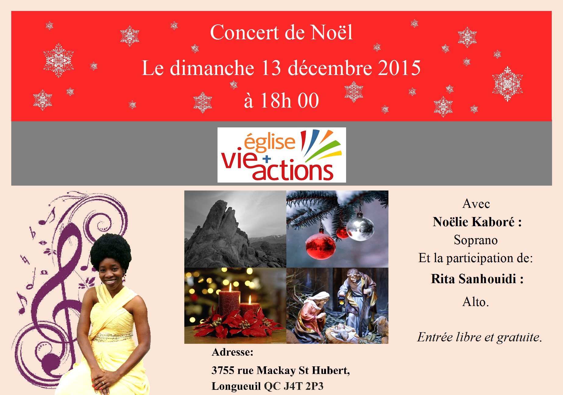 Concert de Noël, Église Vie et Actions